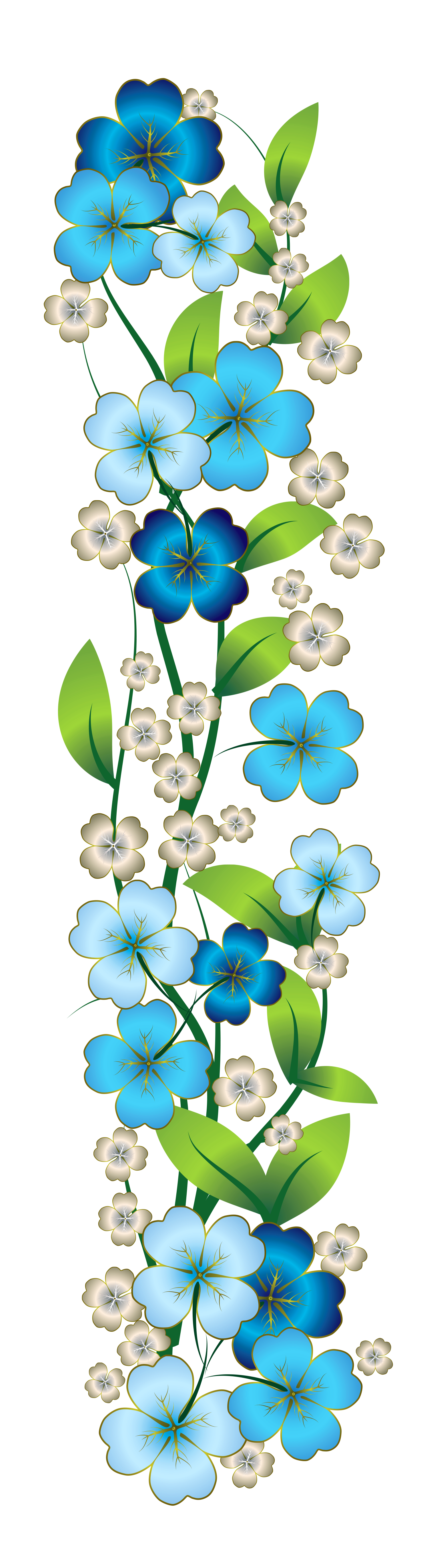Blue Flower clipart decorative Gallery Yopriceville Download Blue Clipart