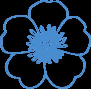 Blue Flower clipart drawing Clker at  Blue Art