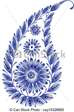 Blue Flower clipart drawing Flower blue Vector of blue