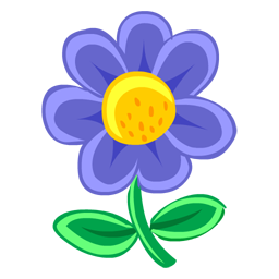 Blue Flower clipart drawing IconBug Image Format: ClipArt PNG