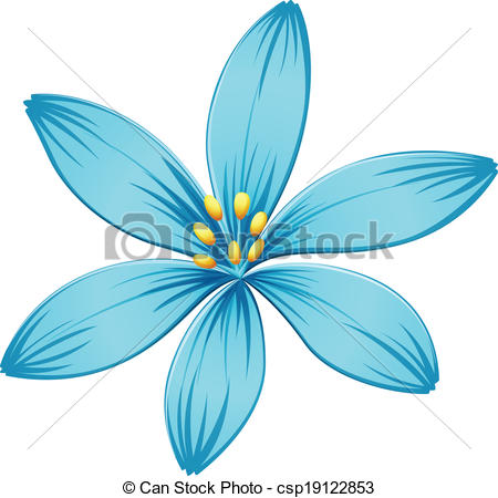 Blue Flower clipart drawing Flower blue on A A