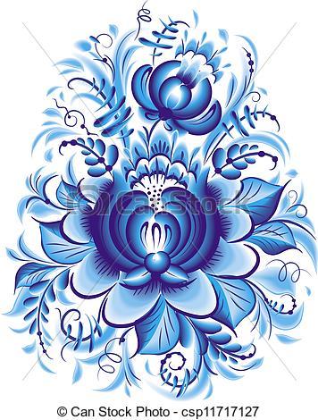 Blue Flower clipart drawing Blue of  Blue Illustration