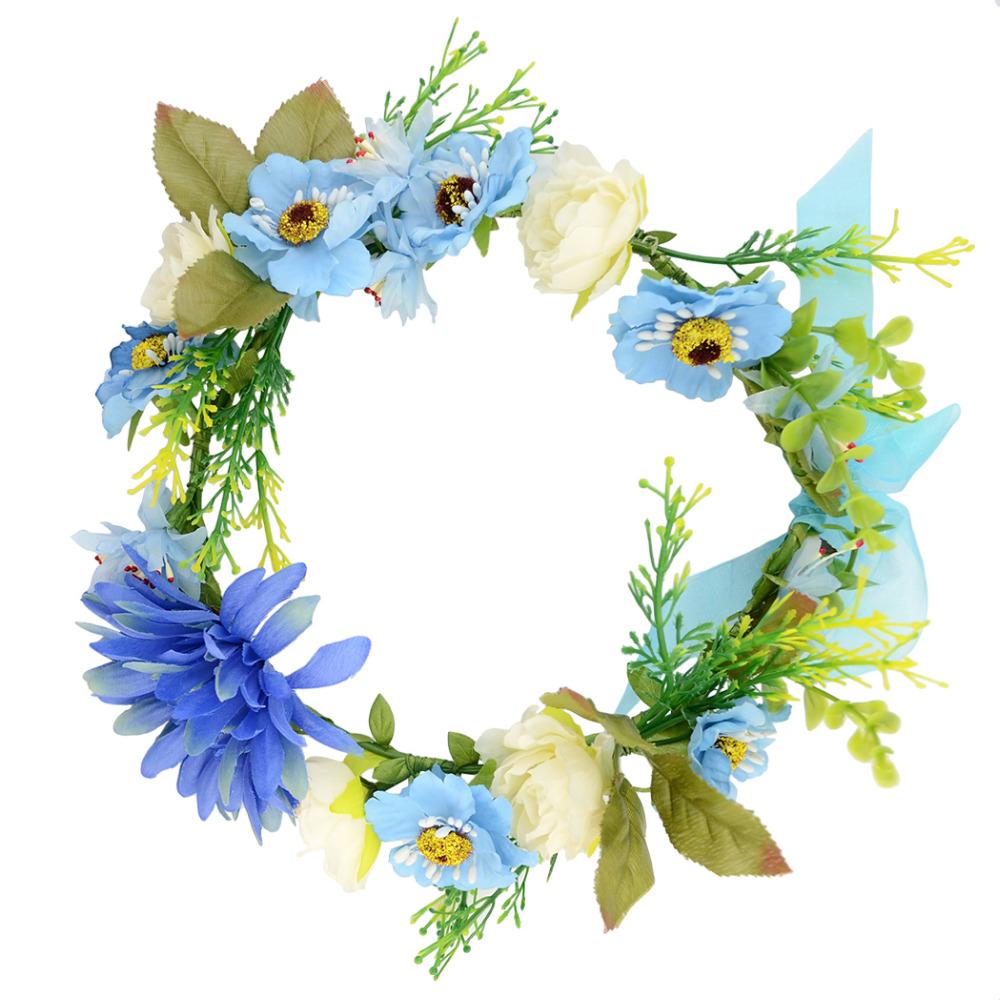 Blue Flower clipart flower head Shopping/Buy Wreaths Women Low Crown