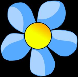 Blue Flower clipart flower head Clipart head head clipart Flower