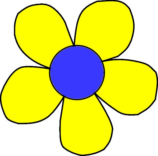 Blue Flower clipart flower head Clker vector com Clip
