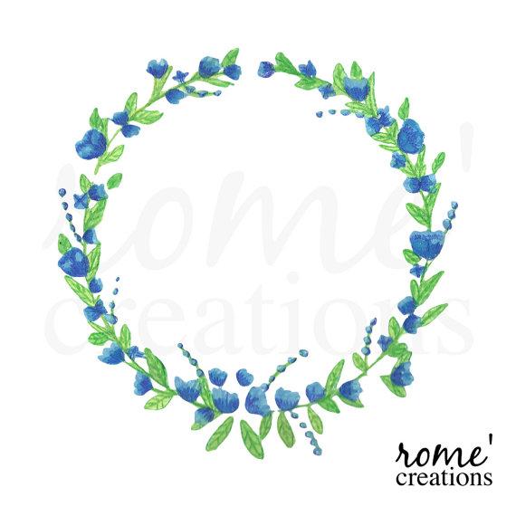 Blue Flower clipart flowery Resolution Watercolor Foil Watercolor Flowers