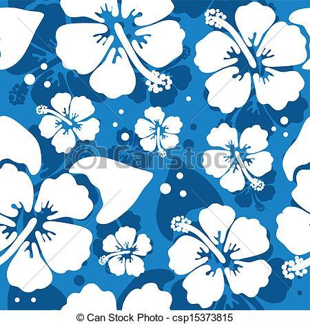 Blue Flower clipart hawaiian graphic Hawaiian Seamless csp15373815 hawaiian flower