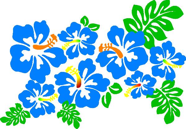 Blue Flower clipart lei flower Clipart Art Clip Art Clip