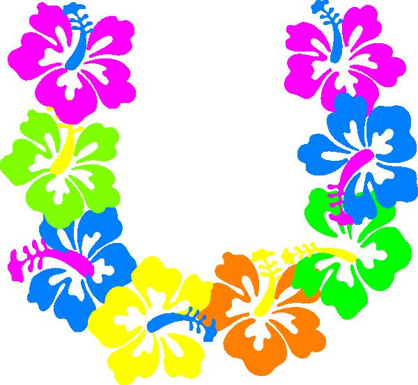 Blue Flower clipart lei flower Hawaiian card holiday clipart clipart