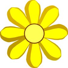 Yellow Flower clipart single flower A  for illustration art