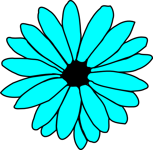 Blue Flower clipart skyblue Blue Flowers Sky Clipart The