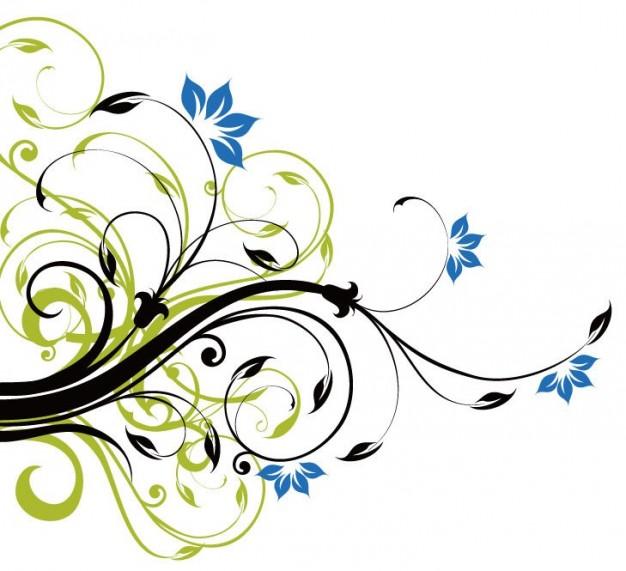 Blue Flower clipart skyblue Blue floral background  swirls