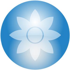 Blue Flower clipart skyblue Blue Flower Sky Orb Orb