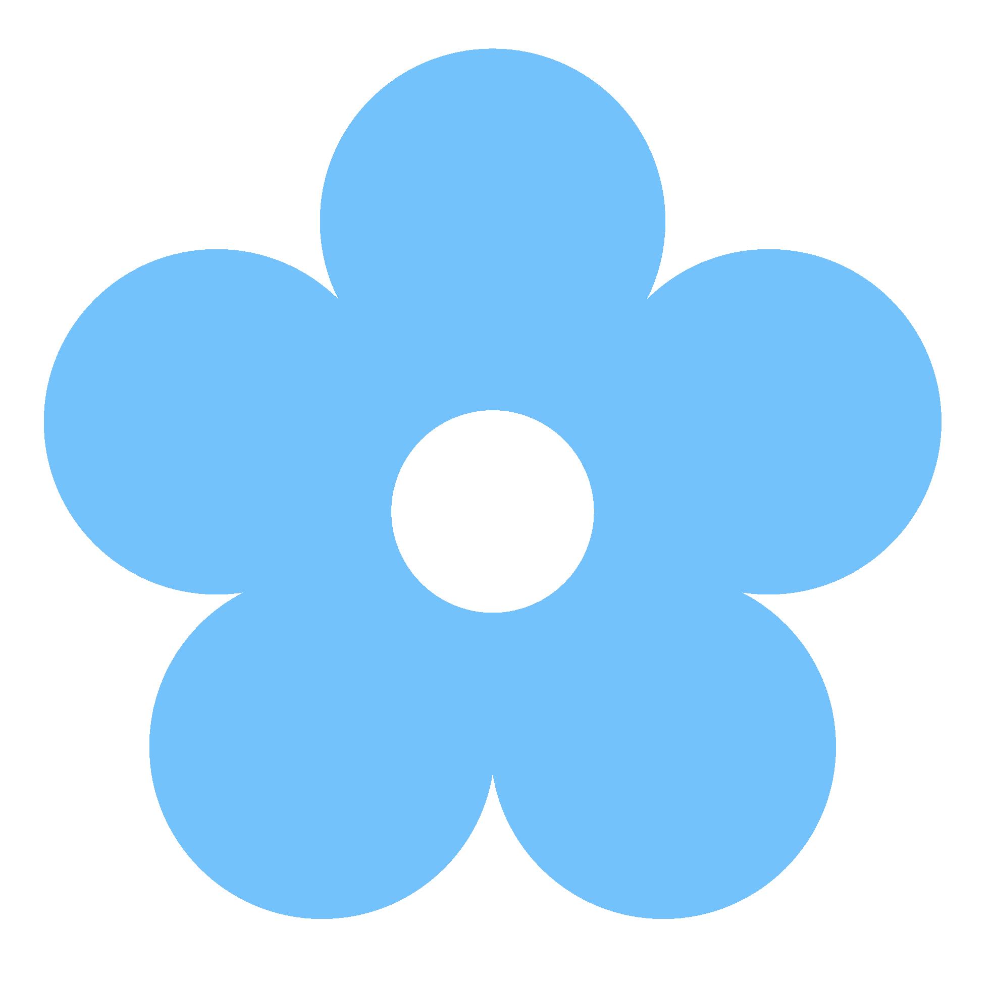 Blue Flower clipart skyblue Blue Flower art clip clipartsgram
