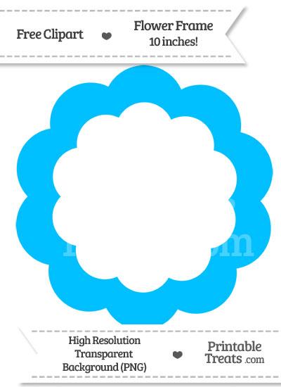 Blue Flower clipart skyblue Sky Blue Frame com Clipart