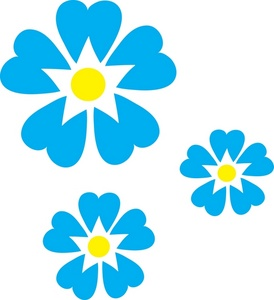 Blue Flower clipart small flower Clip of of Blue Image