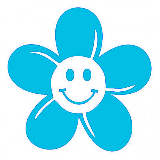 Blue Flower clipart smiley flower A style smiley Various In
