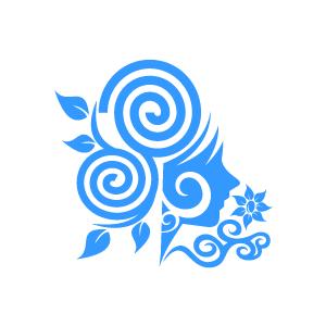 Blue Flower clipart swirl flower Clipart Black Flower Design Background