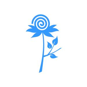 Blue Flower clipart swirl flower Blue  Clipart Design Flower