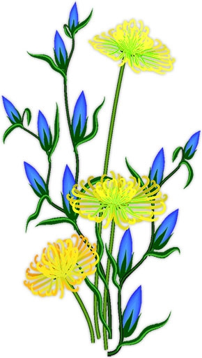 Blue Flower clipart tall flower And yellow clip Candy blue