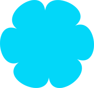 Blue Flower clipart teal flower Blue art at  Flower