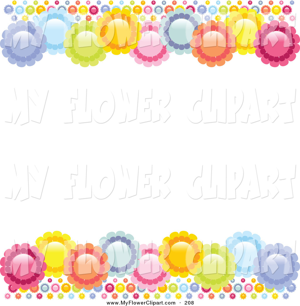 Orange Flower clipart flower bottom border Borders White Blue Borders Royalty