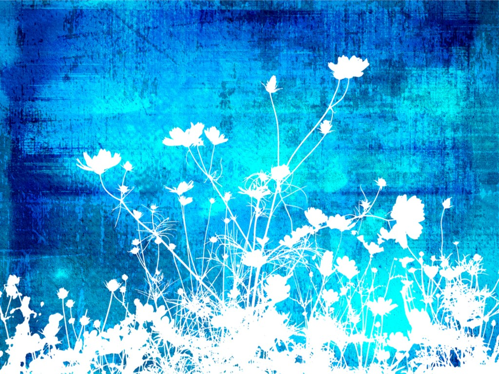 Blue Flower clipart teal flower Blue for White PowerPoint white