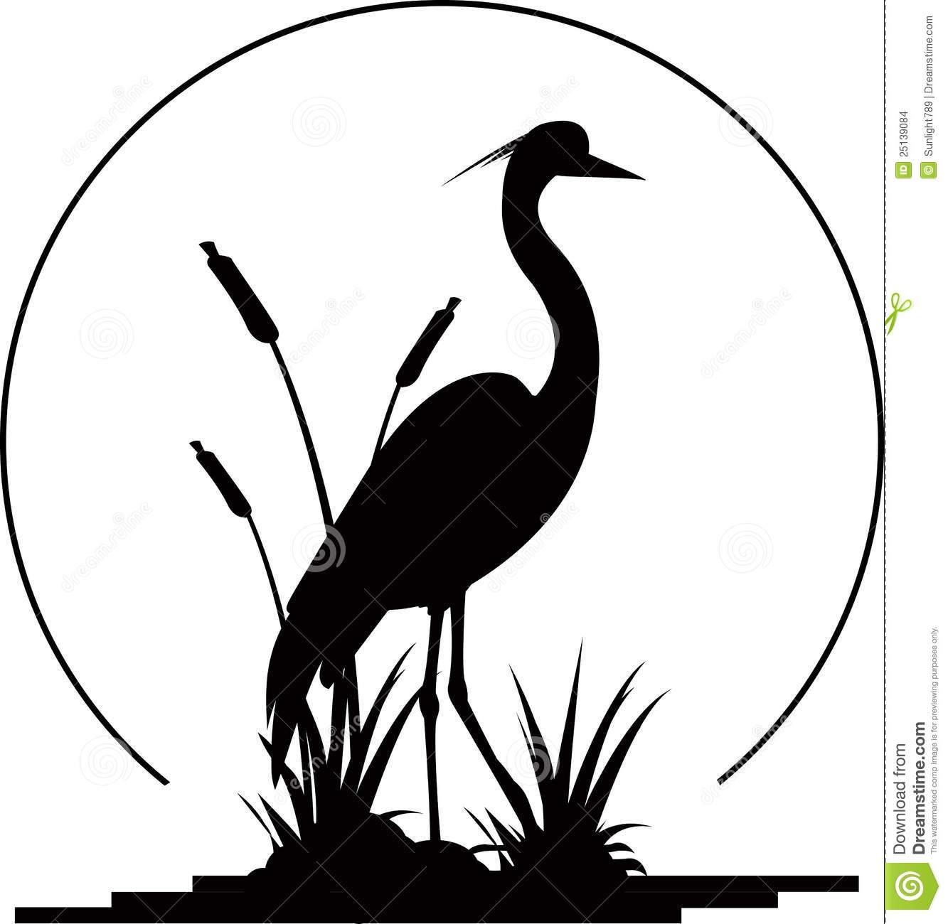 Blue Heron clipart #11