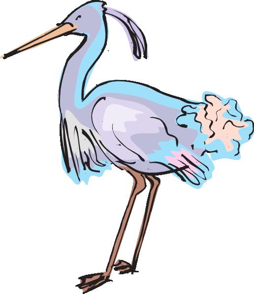 Blue Heron clipart Clker Purple vector image Art