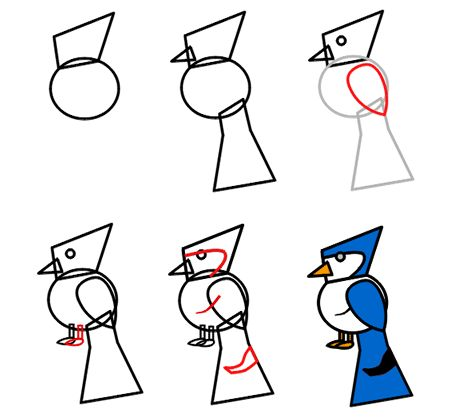 Blue Jay clipart bird face By Cartoon How Pictures to