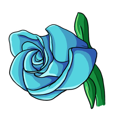 Blue Rose clipart Clip about art 1 Learn