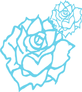 Blue Rose clipart Vector Clip clip at Roses