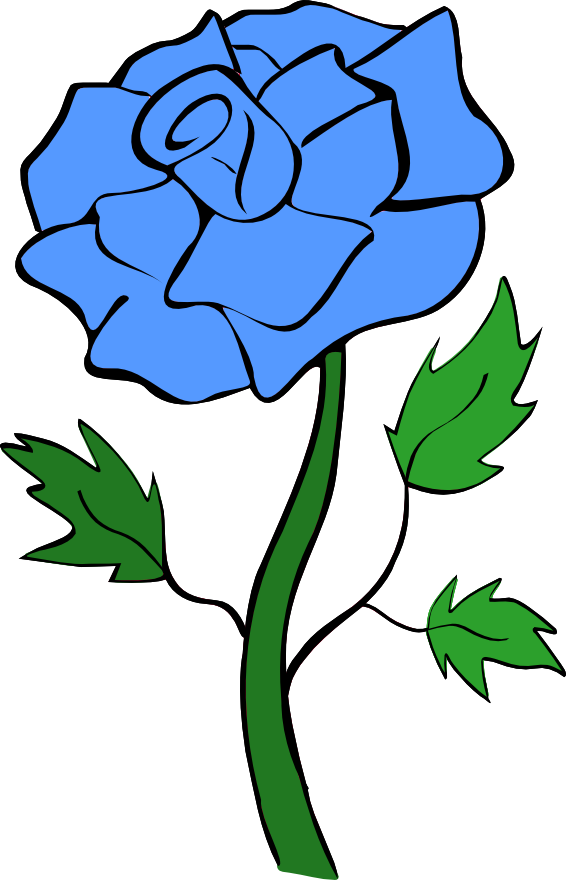 Purple Rose clipart animated Blue art clip Blue nichols