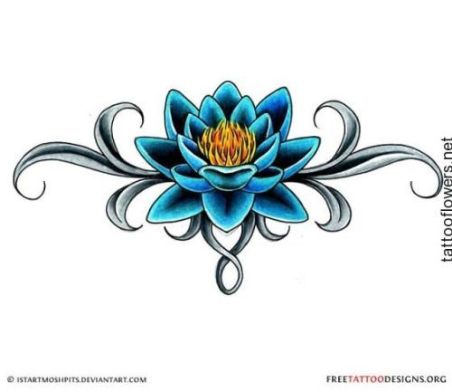 Blue Rose clipart valentines day rose Ideas on Tattoo Lotus about