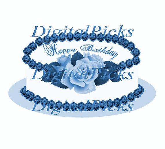 Blue Rose clipart valentines day rose Cake Etsy 417