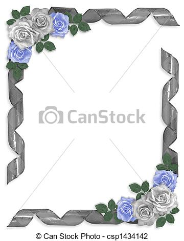 Blue Rose clipart ribbon And roses Image Clip Stock