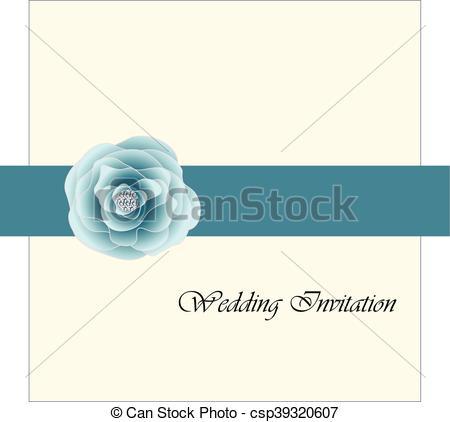 Blue Rose clipart ribbon  rose invitation pink ribbon