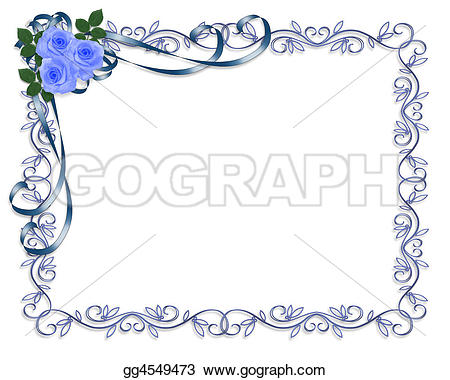 Blue Rose clipart ribbon Copy frame Clipart Clipart background