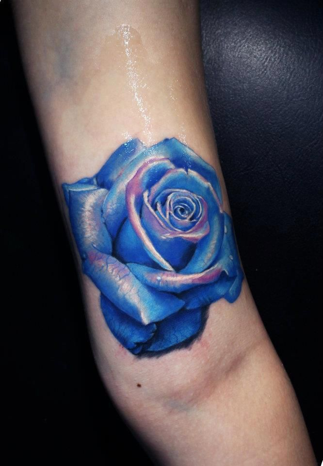 Blue Rose clipart side Artist: Baronis Blue tattoo on