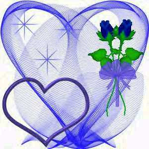 Blue Rose clipart valentine rose And Hearts Gallery Blue >