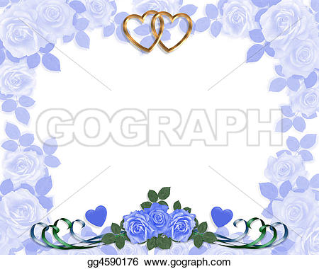 Blue Rose clipart valentine rose Wedding Stock invitation invitation Drawings