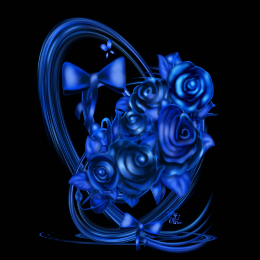 Blue Rose clipart valentine rose Quality Images size Yopriceville roses