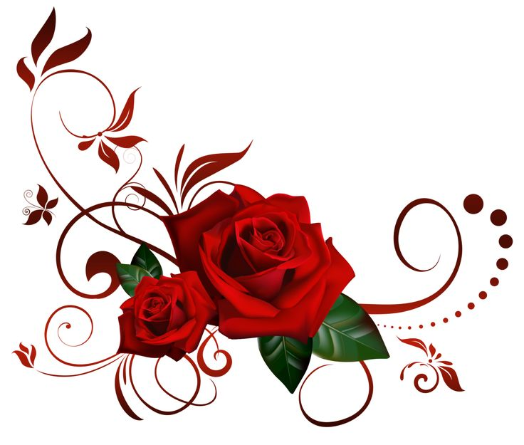 Blue Rose clipart valentine rose Of obtaining on VECTORES Rose