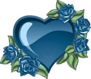 Blue Rose clipart valentine rose Blue heart Pinterest images Pin