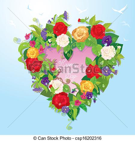 Blue Rose clipart valentines day rose Flowers shape of blue