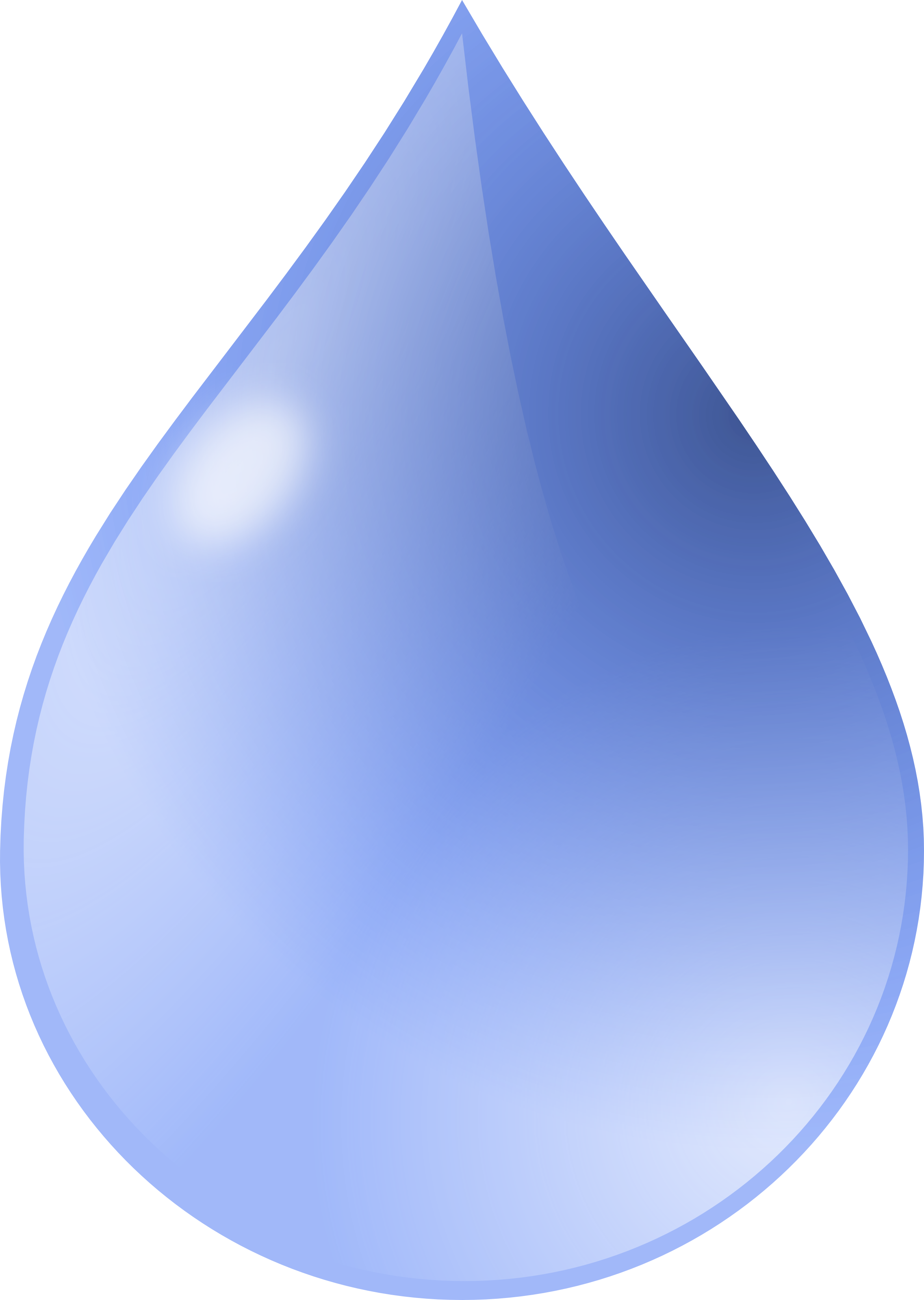 Clipart  Blue Drop Water