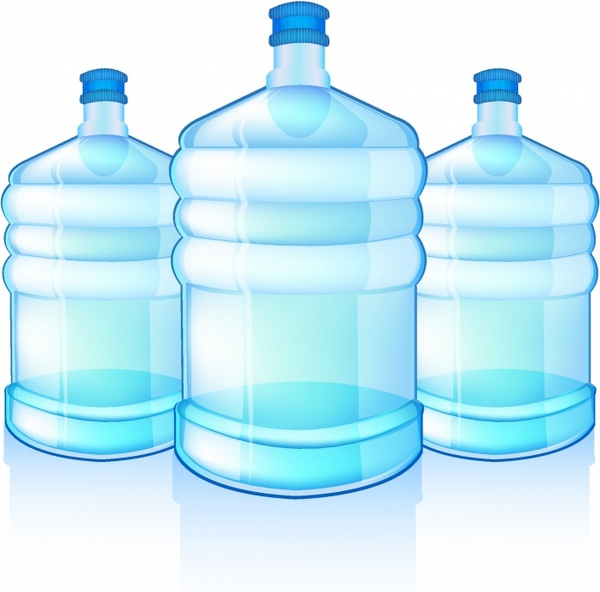 Blue Water clipart jug water Three free with bottles Water