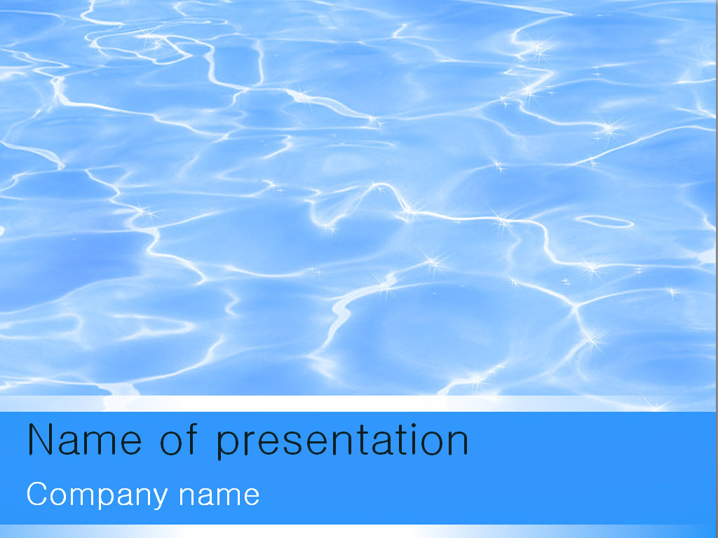 Blue Water clipart presentation background For presentation Microsoft template p9wXuGeG