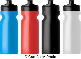 Bottle clipart sports bottle Blue water  Set clean