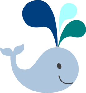 Blue Whale clipart whale watching Light Blue  Clip Whale